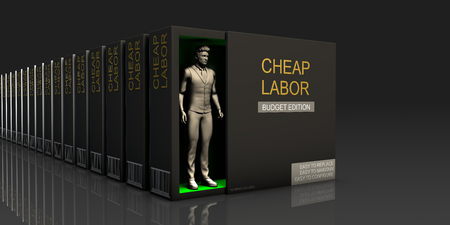 Cheap Labor Endless Supply of Labor in Job Market Concept Stock Photo