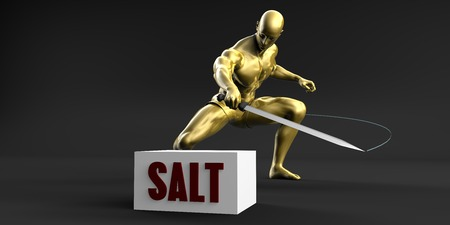 Reduce Salt and Minimize Business Concept Stock Photo