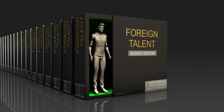 Foreign Talent Endless Supply of Labor in Job Market Concept Stock Photo