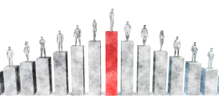 Karriereentwicklung und Leadership Training im Projektmanagement Standard-Bild - 70116762