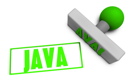 Java Stamp or Chop on Paper Concept in 3d