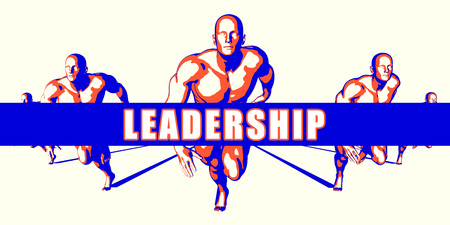 Leadership as a Competition Concept Illustration Art