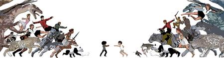 Escape From Reality van Little Children Dreaming Up Scenario
