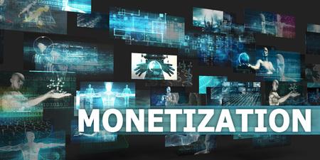 monetization: Monetization Presentation Background with Technology Abstract Art