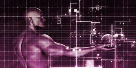 concurrent: Multimedia Marketing with Cross Platform Technologies Art Stock Photo
