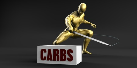 slashing: Reduce Carbs and Minimize Business Concept Stock Photo