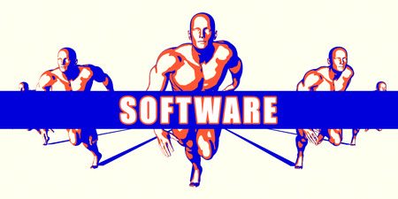 Software as a Competition Concept Illustration Art Stock Photo