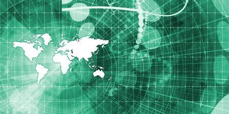 通信: Global Communications and Financial Data Sharing Concept