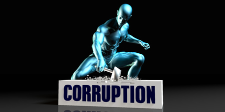 corruption: Get Rid of Corruption and Remove the Problem Stock Photo