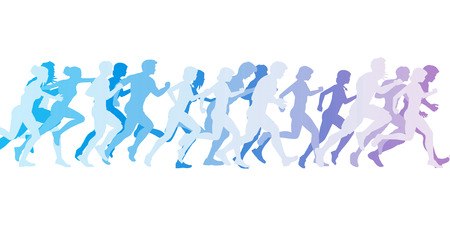 Men and Women Running in a Competition