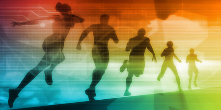 regiment: Sports Technology Background for Medical Science Stock Photo