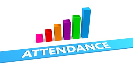 Great Attendance Concept with Good Chart Showing Progress Stok Fotoğraf