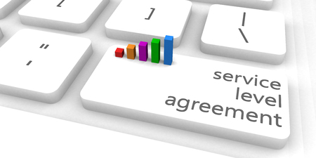 Service Level Agreement or SLA as Concept Stok Fotoğraf - 71914331