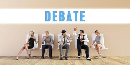 discussed: Business Debate Being Discussed in a Group Meeting