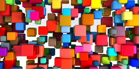 variety: Colorful Geometric Abstract Background as Fun Theme
