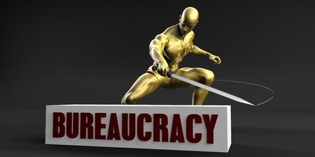 minimize: Reduce Bureaucracy and Minimize Business Concept Stock Photo