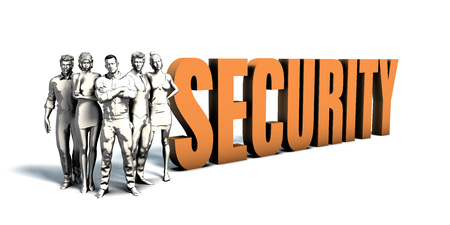 Business People Team Focusing on Improving Security as a Concept Stock Photo