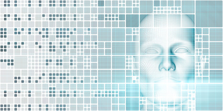 Machine Learning Artificial Intelligence AI Development Concept Banco de Imagens - 72582044