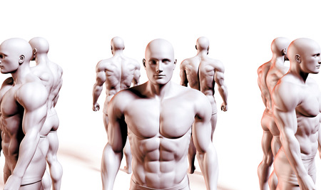 chiseled: Strength and Conditioning as a Fitness Team for Training Stock Photo