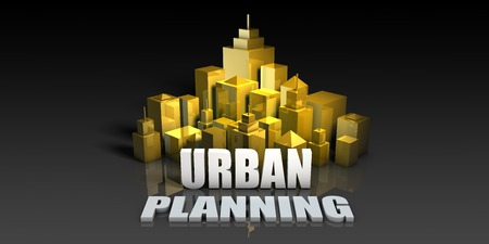 Urban Planning Industry Business Concept with Buildings Background Stock Photo