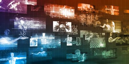 Digital Marketing Platform and Effective Technology Promotion Banque d'images