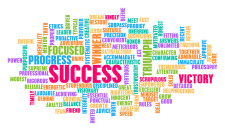 Success Word Cloud Concept on White