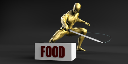 Reduce Food and Minimize Business Concept Stock Photo
