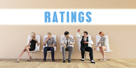 Business Ratings Being Discussed in a Group Meeting