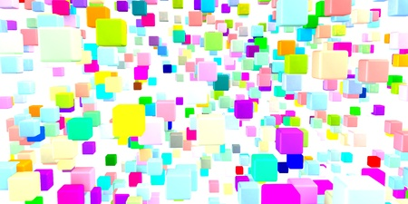 Abstract Colorful Background in Red, Blue, Green and Pink on White Stock Photo