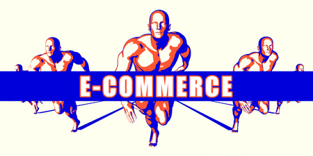 E-commerce as a Competition Concept Illustration Art
