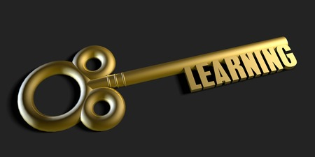 gain access: Key To Your Learning as a Concept Stock Photo