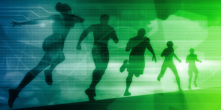 Sports Technology Background for Medical Science Stock Photo