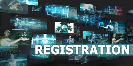 disruption: Registration Presentation Background with Technology Abstract Art Stock Photo