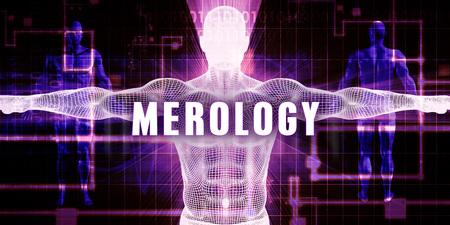 a medical technology: Merology as a Digital Technology Medical Concept Art Stock Photo