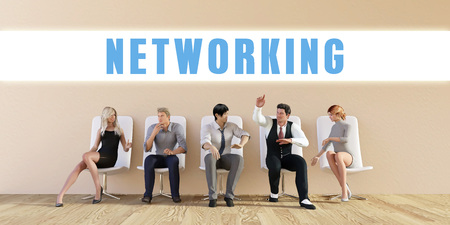 Business Networking Being Discussed in a Group Meeting Stock Photo