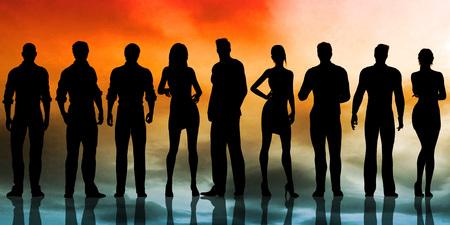 Service des ressources humaines Embauche le candidat idéal Banque d'images - 75055647