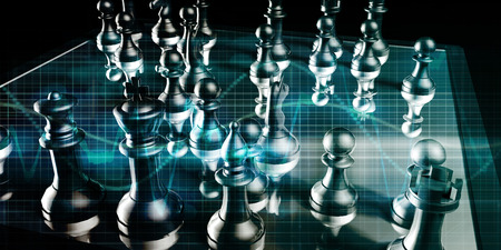 convention: Strategic Management and Business War Chess Concept