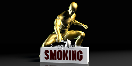 Eliminating Stopping or Reducing Smoking as a Concept 스톡 콘텐츠