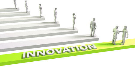 business innovation: Innovation Mindset for a Successful Business Concept Stock Photo