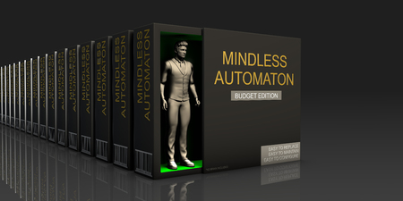 Mindless Automaton Endless Supply of Labor in Job Market Concept