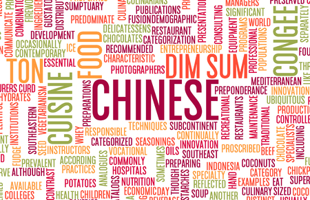 Chinese Food and Cuisine Menu Background with Local Dishes