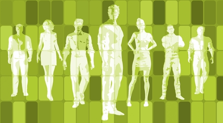 Business Team of Executives as a Success Concept Stock Photo