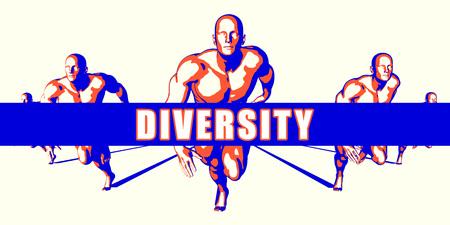 Diversity as a Competition Concept Illustration Art Lizenzfreie Bilder