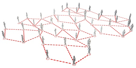 Business People Network Connected Together as Concept