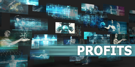 Profits Presentation Background with Technology Abstract Art