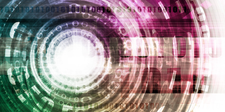 Futuristic Technology Portal with Digital Disruptive Technologies