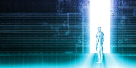 Der Schritt in die Zukunft als Business-Technologie-Konzept