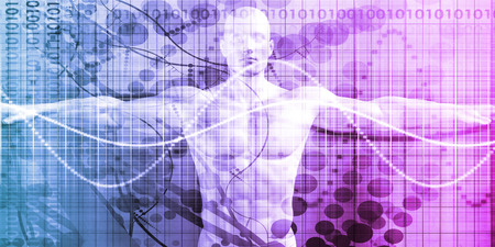 Digital Health System Software and Body Technology as Concept Lizenzfreie Bilder