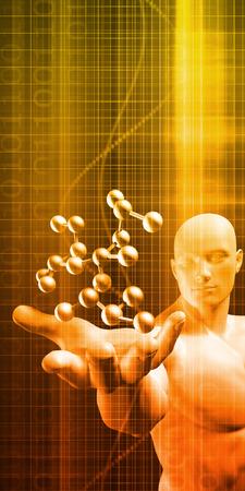 Medical Abstract Background of a Futuristic Science Art Lizenzfreie Bilder