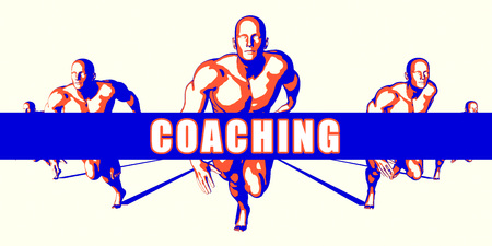 Coaching as a Competition Concept Illustration Art